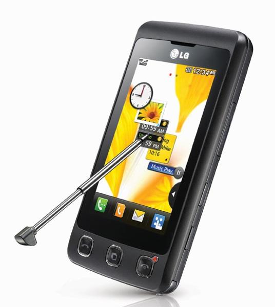 LG KP500, Lo táctil no tiene por qué ser caro