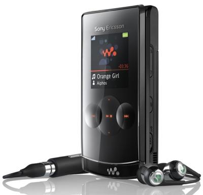 Sony Ericsson W980i con 8 GB de memoria interna