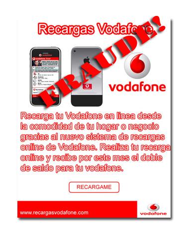 Utilizan a Vodafone para cometer un fraude
