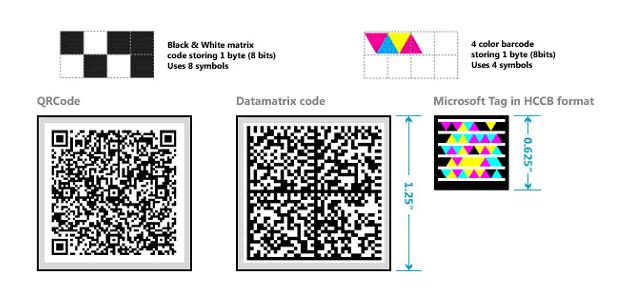 Código de barras multicolor de Microsoft