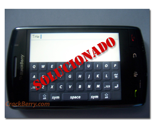 Blackberry Storm, desactiva el modo de compatibilidad