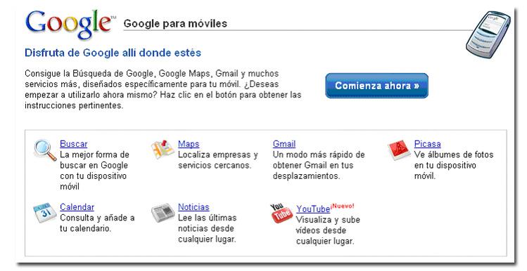 Analizamos los servicios de Google para móvil