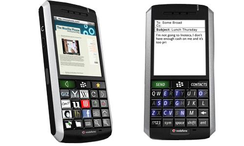 The Mozilla Proyect quiere desarrollar un móvil con teclado oled con Blackberry