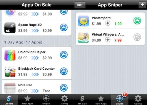 Rasteador de precios para aplicaciones Iphone