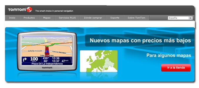 TOMTOM modifica la compra de mapas