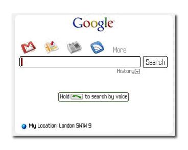 Buscador Google por voz para Blackberry