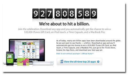 A por el Billón de descargas en la App Store