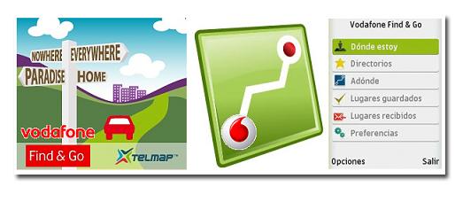 Find&Go, el nuevo servicio GPS para móviles de Vodafone.