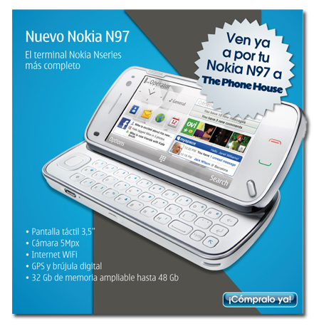 Por fin a la venta, nuevo Nokia N97