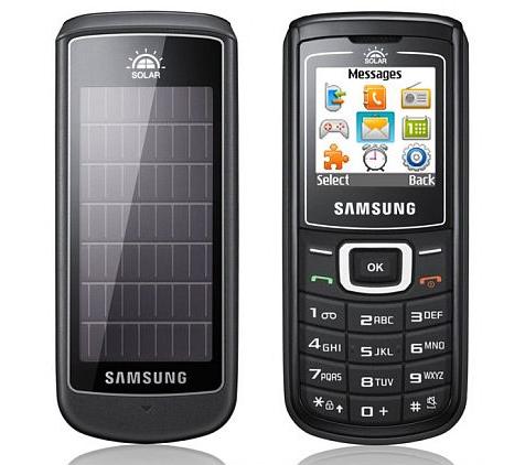 Samsung E1107 GURU primer móvil solar del mundo