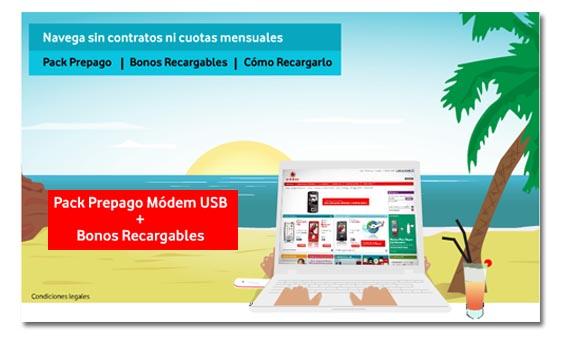 Vodafone renueva sus tarifas prepago para Internet