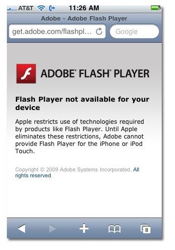 Adobe deja clara su posición hacia el Iphone