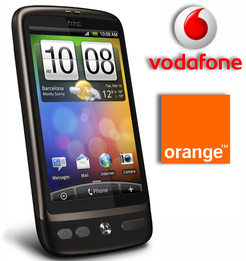 HTC Desire con Orange y Vodafone en España