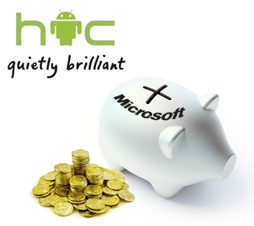 HTC pagará un canon a Microsoft por cada móvil Android
