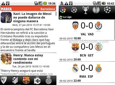 Marca y AS en Android