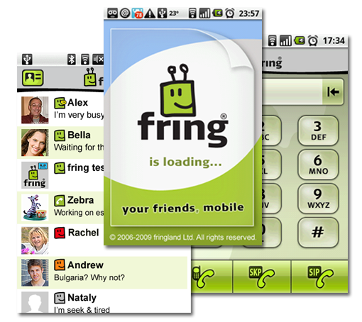 Fring soporta video llamada en Android