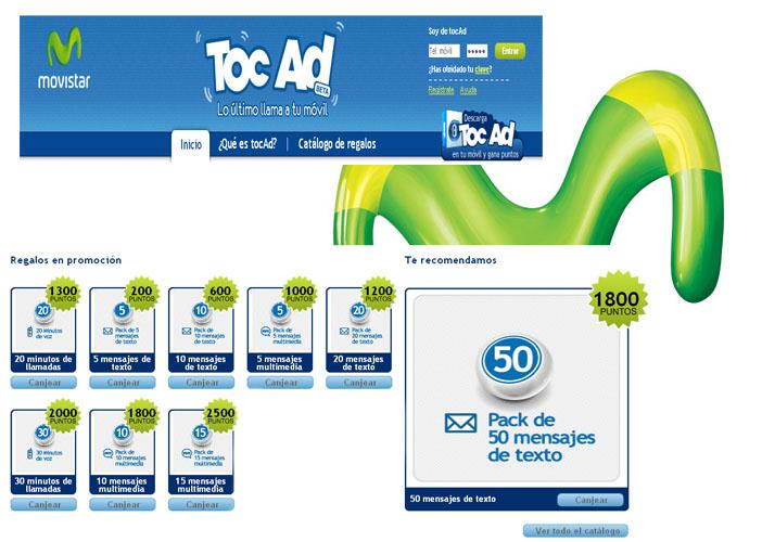 TocAd de MoviStar da regalos a cambio de publicidad.
