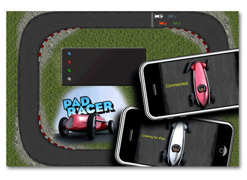 PadRacer. El iPhone como mando a distancia del iPad