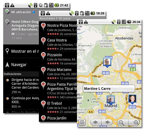 Google Maps para Android, ahora más completo