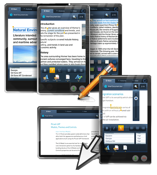 Picsel Smart Office en el Samsung Wave