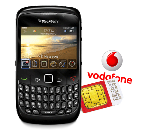 Vodafone lanza Tarifa Blackberry para clientes prepago