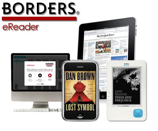 Borders eReader próximamente para Blackberry y Android