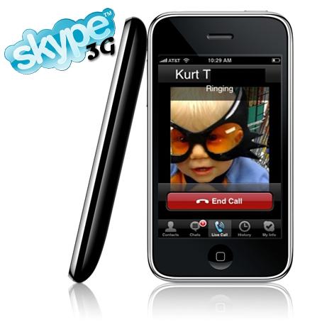 Skype en el iPhone a través de 3G