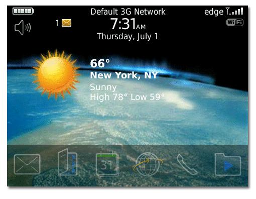 Meteorolog a en el escritorio de tu blackberry blog oficial phone house - El tiempo en tu escritorio ...