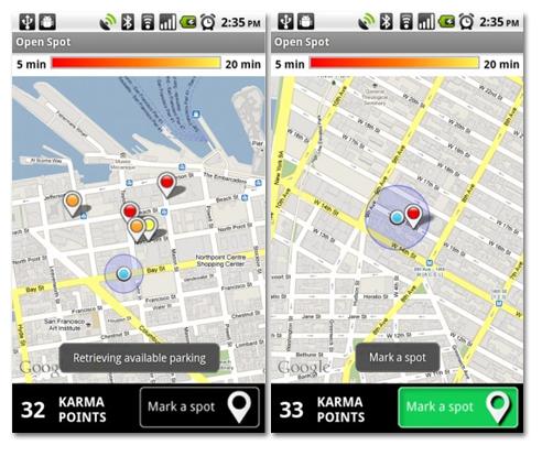 Open Spot. Encuentra aparcamiento con tu Android