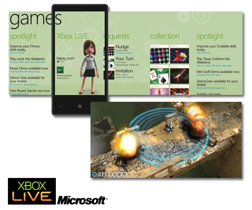 Windows Phone 7 y su acceso a Xbox Live
