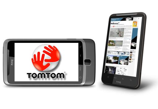Los nuevos HTC con Android traerán Tom Tom
