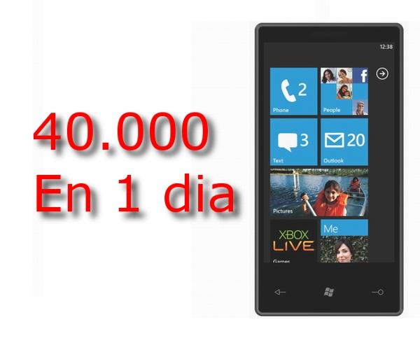 En el primer día se venden 40.000 dispositivos con Windows Phone 7