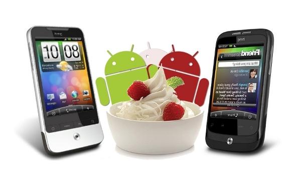 Froyo próximamente disponible para las HTC Legend y Wildfire