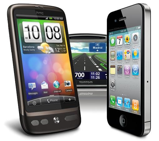 Los smartphones ganan más terreno a los habituales GPS