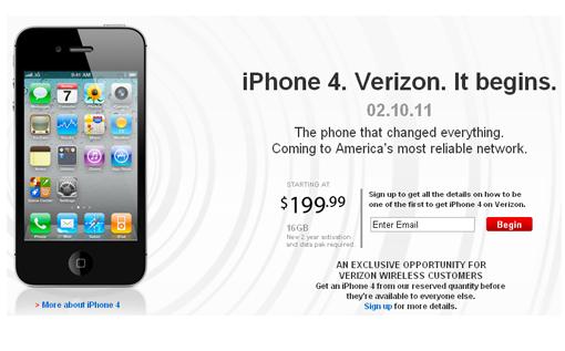 El iPhone 4 CDMA a la venta a partir de Febrero
