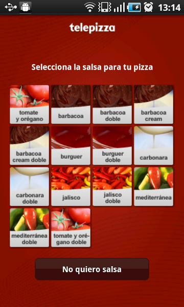 Pide una pizza a traves de tu Smartphone