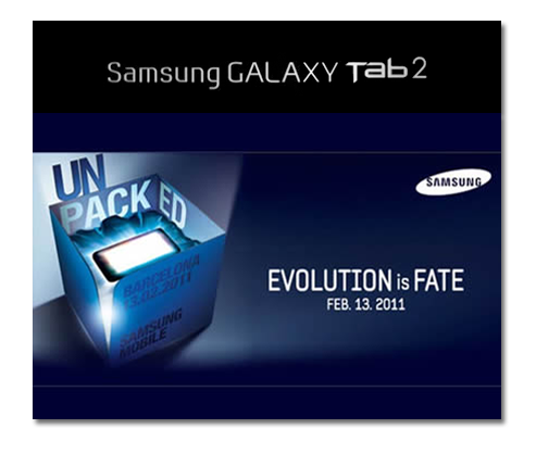 El Samsung Galaxy Tab 2 será presentado junto con el Galaxy S 2