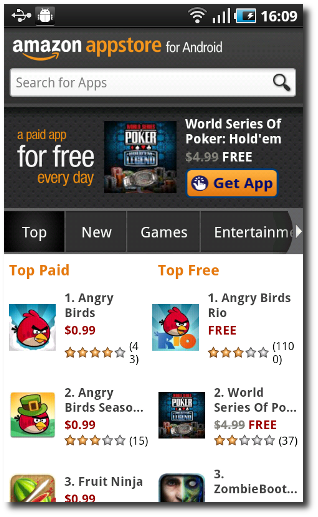 AppStore de Amazon aprovecha Angry Birds Rio