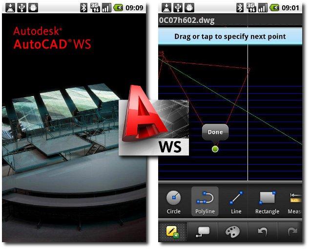 AutoCAD WS disponible desde la Market