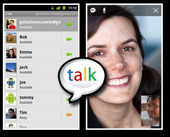 Actualizacion de Nexus S, Google Talk con videoconferencia por fin