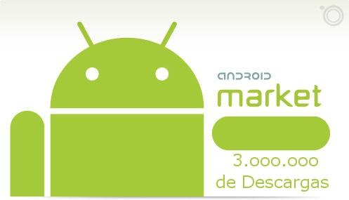 El Market de Android llega a los 3 millones de descargas