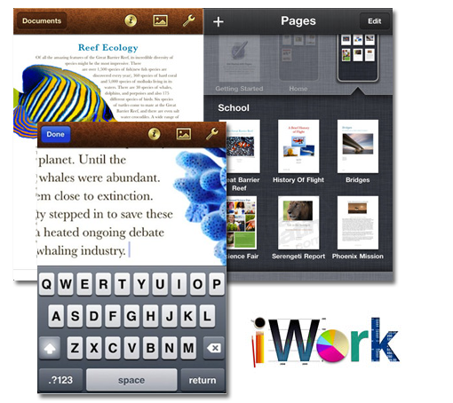 iWork también disponible para iPhone e iPod Touch