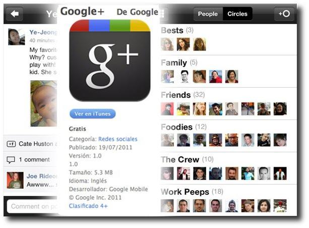 Google + ya disponible para IOS