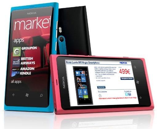 El Nokia Lumia 800 libre, Orange o Yoigo en Phone House