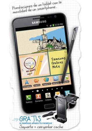 Samsung Galaxy Note en Phone House con regalo incluído