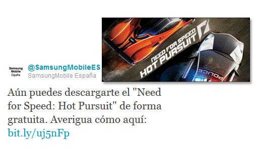 Need For Speed Hot Pursuit gratis para tu Galaxy