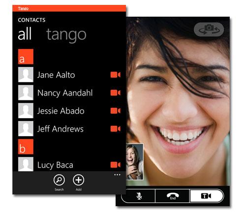 Tango ya disponible en Windows Phone