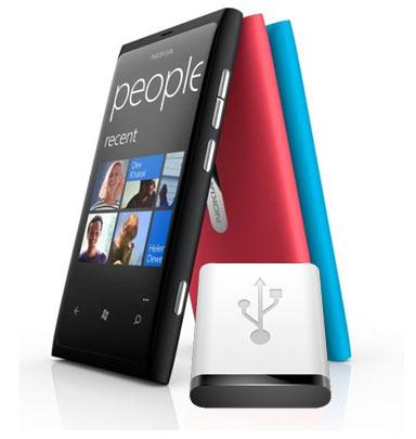 Usar el modo almacenamiento masivo en el Nokia Lumia 800