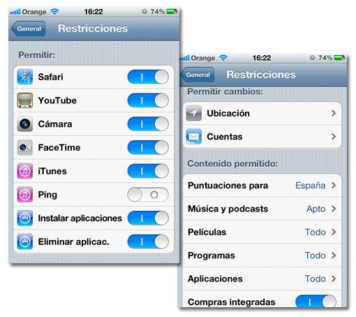 Configura las restricciones de iOS para que tus hijos usen el móvil con seguridad