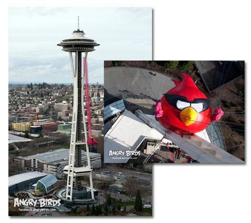 Angry Birds Space y su tirachinas más grande del mundo